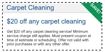 $20 off carpet cleaning deal in Bakersfield