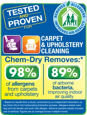 what Chem-Dry removes from carpets and upholstery