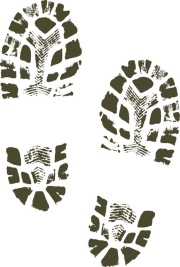 muddy footprints graphic