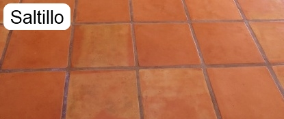 Sample of a saltillo floor that has been cleaned.